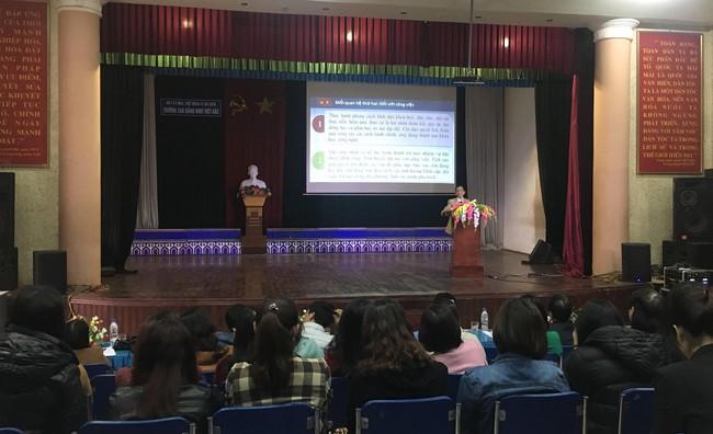 Trường Cao đẳng VHNT Việt Bắc tổ chức Hội nghị học tập, quán triệt triển khai thực hiện các nội dung Hội nghị lần thứ 8 BCH Trung ương Đảng khóa XII - Ảnh 1.
