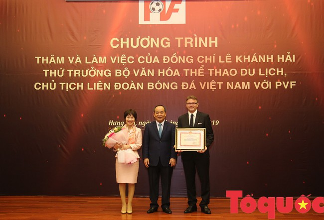 Thứ trưởng Lê Khánh Hải: PVF sẽ là nơi đào tạo ra những lứa cầu thủ vừa tài, vừa đức - Ảnh 5.