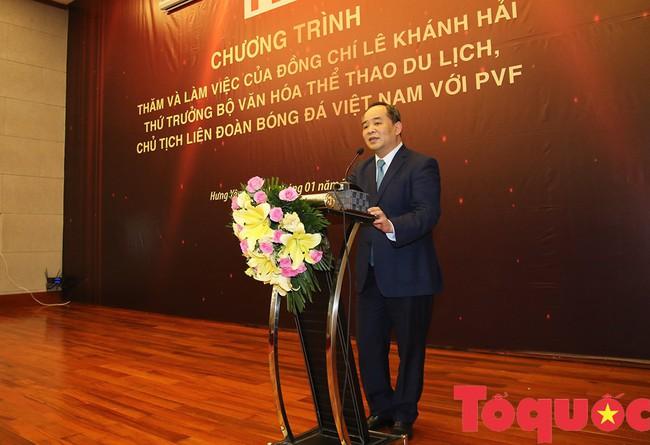 Thứ trưởng Lê Khánh Hải: PVF sẽ là nơi đào tạo ra những lứa cầu thủ vừa tài, vừa đức - Ảnh 6.