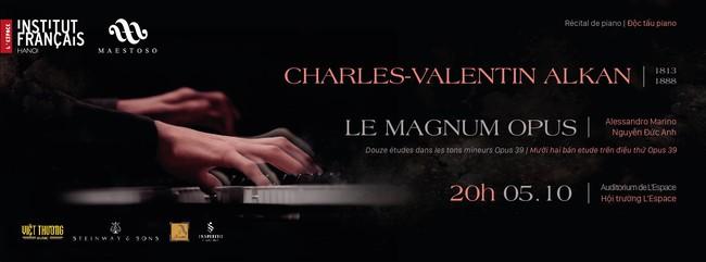 Nghệ sĩ Việt - Pháp hội ngộ trong đêm nhạc cổ điển Độc tấu piano Charles - Valentin Alkan - Ảnh 1.