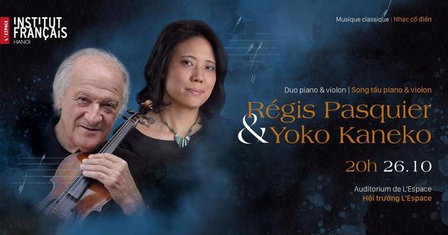 Đêm nhạc song tấu violon và piano của hai nghệ sĩ tài năng người Pháp và người Nhật  - Ảnh 1.