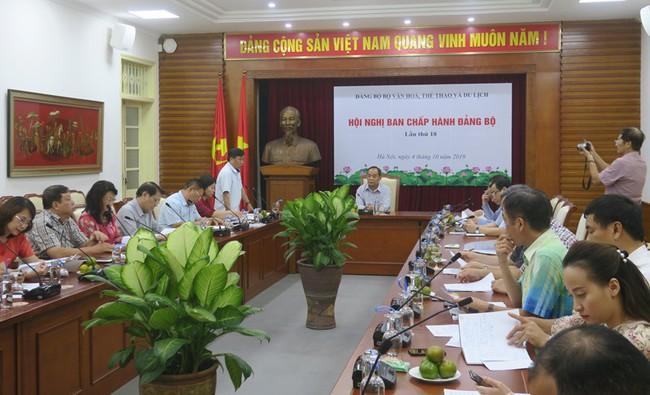 Hội nghị Ban chấp hành Đảng bộ Bộ VHTTDL lần thứ 18 - Ảnh 2.
