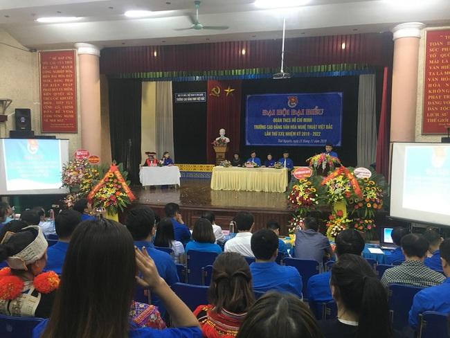 Đại hội đại biểu Đoàn TNCS Hồ Chí Minh trường CĐ Văn hóa Nghệ thuật Việt Bắc lần thứ XXV, nhiệm kỳ 2019 - 2022 - Ảnh 1.