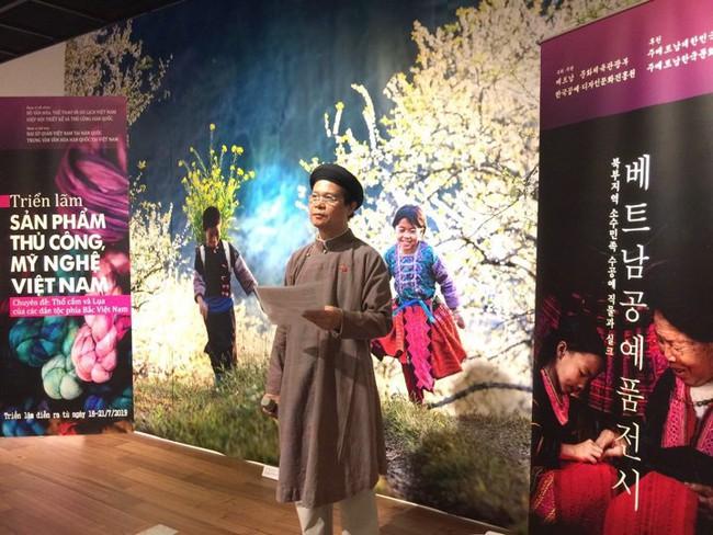 Khai mạc Triển lãm Thổ cẩm và lụa tại Seoul, Hàn Quốc - Ảnh 1.