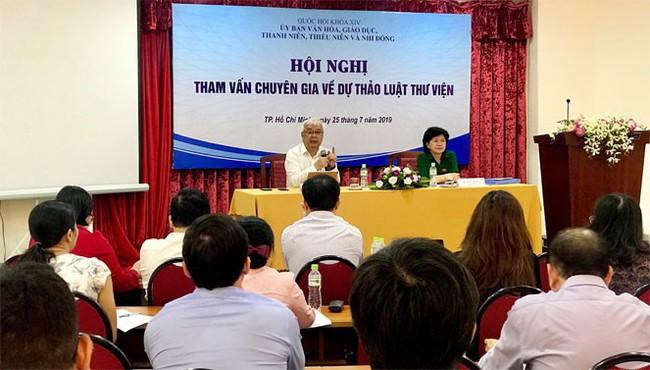 Hội nghị tham vấn chuyên gia về dự thảo Luật Thư viện - Ảnh 1.