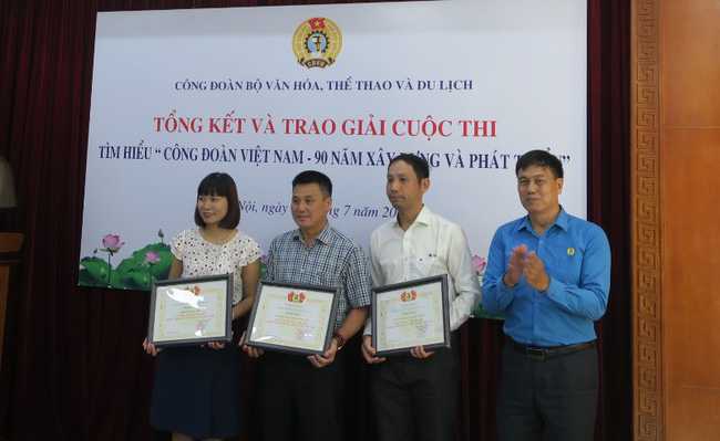 Trao giải cuộc thi tìm hiểu Công đoàn Việt Nam – 90 năm xây dựng và phát triển - Ảnh 3.