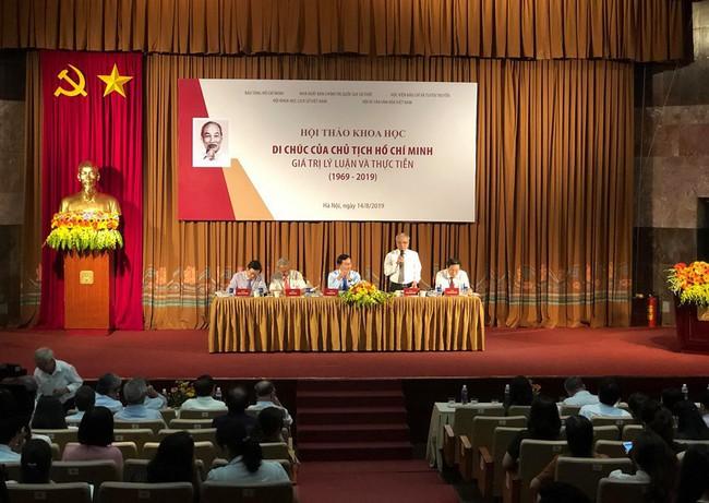 Di chúc Hồ Chí Minh - văn kiện lịch sử vô giá, di sản văn hóa, quốc bảo của Đảng, nhân dân và dân tộc - Ảnh 1.