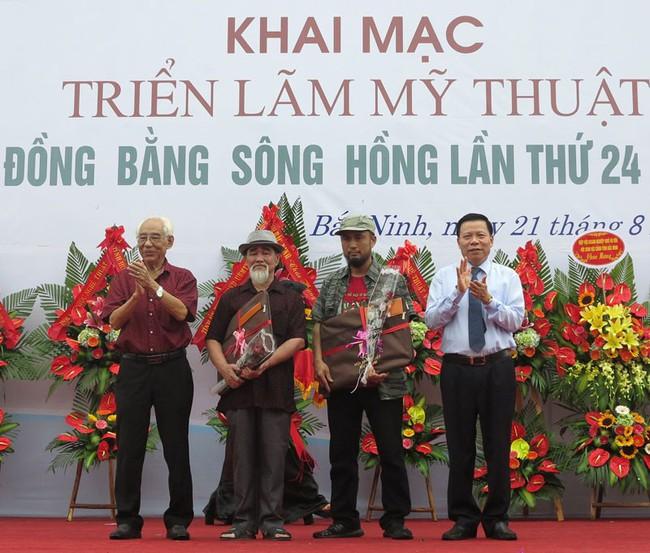 Khai mạc triển lãm Mỹ thuật Đồng bằng sông Hồng lần thứ 24 năm 2019 - Ảnh 1.