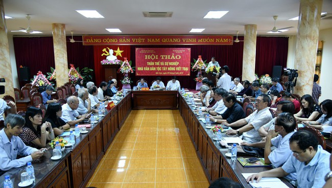 Hội thảo Thân thế và sự nghiệp nhà văn dân tộc Tày Nông Viết Toại - Ảnh 1.
