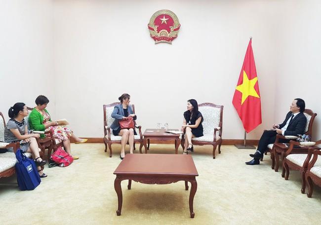 Cục Hợp tác quốc tế tiếp đoàn Tham tán Thông tin - Văn hoá, Đại sứ quán Hoa Kỳ tại Việt Nam.  - Ảnh 1.