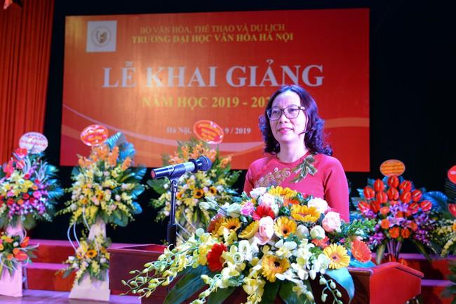 Thứ trưởng Tạ Quang Đông dự lễ khai giảng năm học 2019-2020 của trường Đại học Văn hóa Hà Nội - Ảnh 2.
