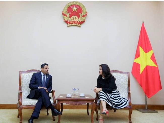 Cục trưởng Cục Hợp tác quốc tế tiếp Đại sứ Đặc mệnh toàn quyền Các Tiểu Vương quốc Ả-rập Thống nhất (UAE) - Ảnh 1.