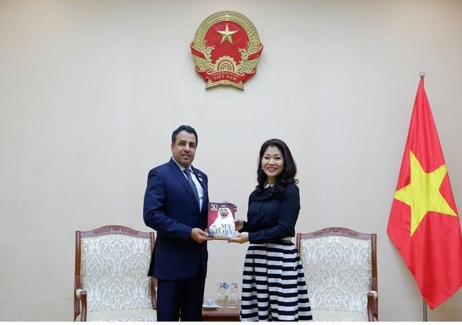 Cục trưởng Cục Hợp tác quốc tế tiếp Đại sứ Đặc mệnh toàn quyền Các Tiểu Vương quốc Ả-rập Thống nhất (UAE) - Ảnh 2.