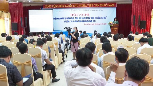 """Quảng Ngãi: Triển khai phong trào """"Toàn dân đoàn kết xây dựng đời sống văn hóa"""" năm 2021 - Ảnh 1."""