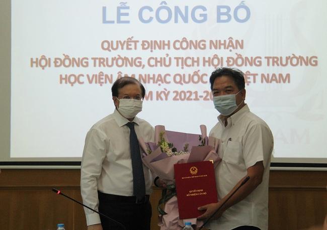 Công bố Quyết định công nhận Hội đồng trường Học viện Âm nhạc Quốc gia Việt Nam nhiệm kỳ 2021-2026 - Ảnh 2.