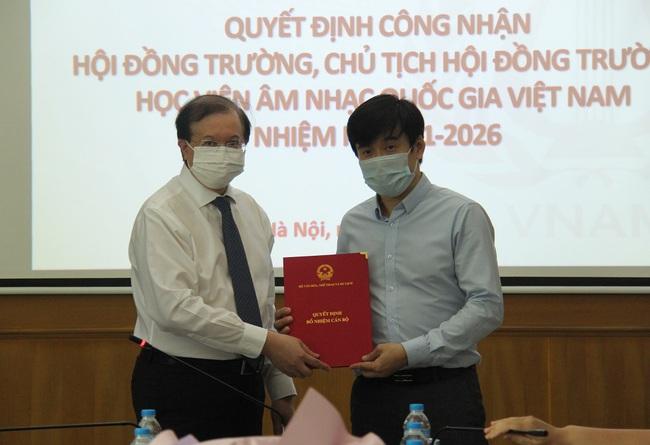 Công bố Quyết định công nhận Hội đồng trường Học viện Âm nhạc Quốc gia Việt Nam nhiệm kỳ 2021-2026 - Ảnh 3.