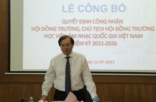 Công bố Quyết định công nhận Hội đồng trường Học viện Âm nhạc Quốc gia Việt Nam nhiệm kỳ 2021-2026 - Ảnh 1.