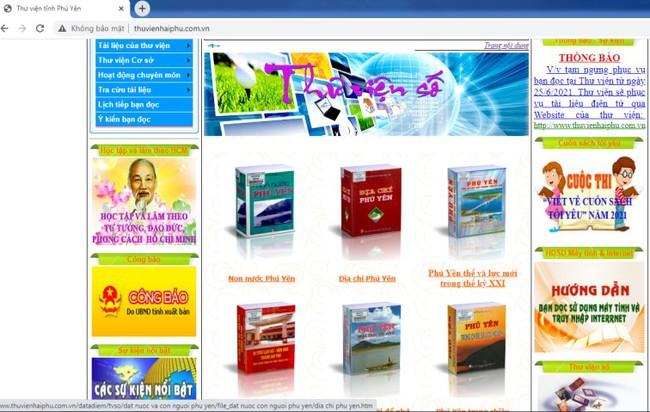 Thư viện tỉnh Phú Yên đẩy mạnh việc phục vụ đọc sách trực tuyến - Ảnh 1.