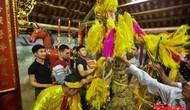 Lễ hội đền Sóc 2019: Vì khan hiếm nên giò hoa tre được thay bằng cây vầu