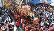Hàng nghìn người tham dự Lễ hội rước pháo Đồng Kỵ Tết Kỷ Hợi