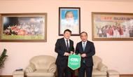 Thứ trưởng Bộ VHTTDL, Chủ tịch VFF Lê Khánh Hải tiếp Chủ tịch Liên đoàn bóng đá Trung Quốc