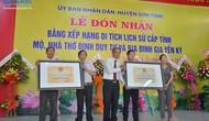 Quảng Ngãi: Đón nhận Bằng xếp hạng di tích lịch sử cấp tỉnh Mộ, nhà thờ Đinh Duy Tự
