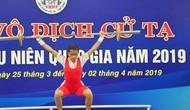 Hơn 60 bộ Huy chương được trao tại giải Vô địch Cử tạ Thanh thiếu niên toàn quốc 2019