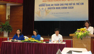 Tăng cường chính sách tạo không gian an toàn cho phụ nữ và trẻ em