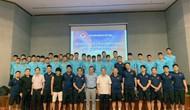 Thứ trưởng, Chủ tịch VFF Lê Khánh Hải thăm và động viên Đội tuyển U22 Việt Nam