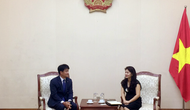 Lãnh đạo Cục Hợp tác quốc tế tiếp Trưởng đại điện tập đoàn KUMHO tại Việt Nam