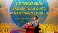 Trao Giải báo chí toàn quốc 1000 năm Thăng Long-Hà Nội