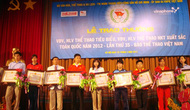 Vinh danh các VĐV, HLV tiêu biểu và VĐV,HLV thể thao người khuyết tật xuất sắc toàn quốc năm 2012