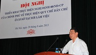 Hội nghị triển khai thực hiện Nghị định của Chính phủ về thực hiện dân chủ ở cơ sở tại nơi làm việc