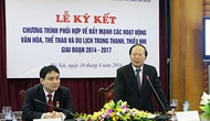 Ký kết Chương trình phối hợp giữa Bộ VHTTDL và Trung ương Đoàn TNCS Hồ Chí Minh