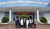 Thứ trưởng Bộ VHTTDL Lê Khánh Hải thăm và làm việc với Trung tâm Doping và Trung tâm HLTTQG Hà Nội