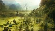 Dựng mô hình giới thiệu phim Kong: Skull Island tại Hà Nội