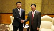 Thứ trưởng Vương Duy Biên tiếp Thứ trưởng Bộ Văn hóa Uzbekistan