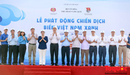 """Thứ trưởng Bộ VHTTDL Đặng Thị Bích Liên phát động chiến dịch """"Biển Việt Nam Xanh"""""""
