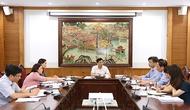 Bộ trưởng Nguyễn Ngọc Thiện làm việc với Ban Quản lý Làng Văn hóa - Du lịch các dân tộc Việt Nam