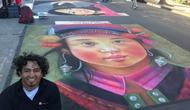 Tranh của họa sĩ Việt Nam hiện diện tại Festival Mỹ thuật đường phố Palo Alto, California.