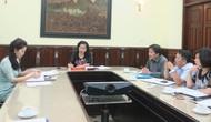 Thứ trưởng Đặng Thị Bích Liên làm việc với Vụ Đào tạo