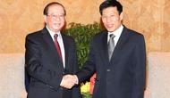 Bộ trưởng Nguyễn Ngọc Thiện tiếp Bộ trưởng Bộ Thông tin, Văn hóa và Du lịch Lào