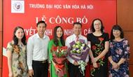 Trường Đại học Văn hóa Hà Nội bổ nhiệm nhân sự mới