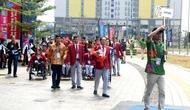 Lễ thượng Cờ của Đoàn Thể thao Người khuyết tật Việt Nam tham dự Asian Para Games 3