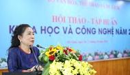 Thứ trưởng Đặng Thị Bích Liên dự Hội thảo – Tập huấn khoa học và công nghệ năm 2018
