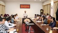 Thứ trưởng Lê Khánh Hải làm việc với Trường Cán bộ quản lý văn hóa, thể thao và du lịch