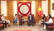 Bộ trưởng Nguyễn Ngọc Thiện tiếp Bà Cecilia Piccioni - Đại sứ Italia tại Việt Nam