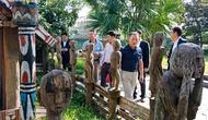 Đoàn đại biểu Sở Cảnh sát tỉnh Gyeongsangbuk-do - Hàn Quốc thăm quan Bảo tàng Văn hóa các dân tộc Việt Nam