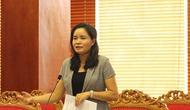 Thứ trưởng Trịnh Thị Thủy làm việc với lãnh đạo tỉnh Lạng Sơn về công tác hoạt động Vì sự tiến bộ của phụ nữ và bình đẳng giới năm 2018