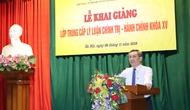 Khai giảng lớp Trung cấp lý luận chính trị - hành chính khóa XV